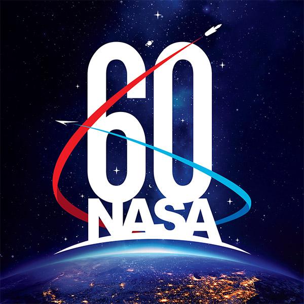 Image of 60th anniversary of NASA logo