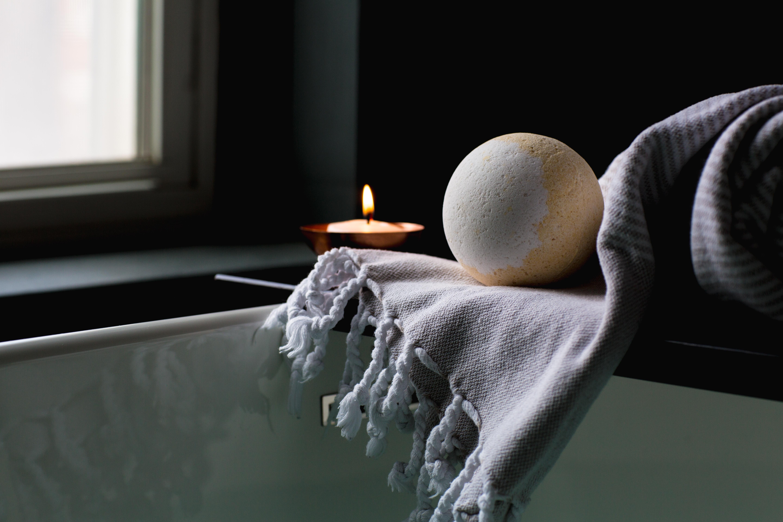 bathbomb and candle