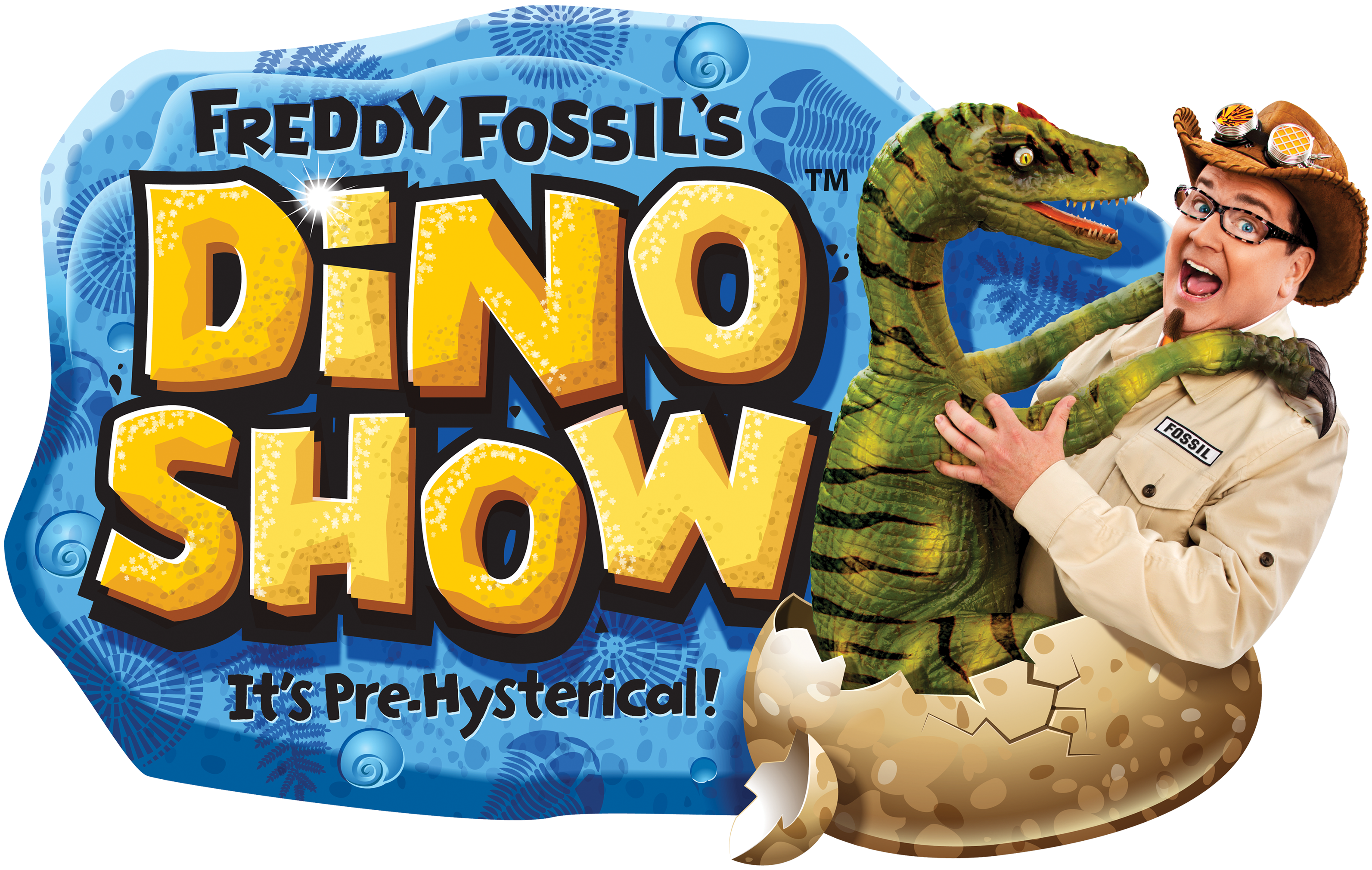 Logo for Freddy Fossil's Dino Show