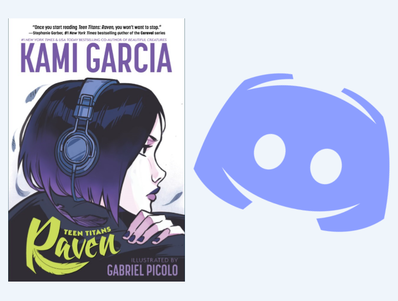 raven book and discord logo