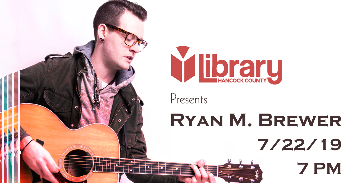 Ryan M. Brewer at the Library in Greenfield