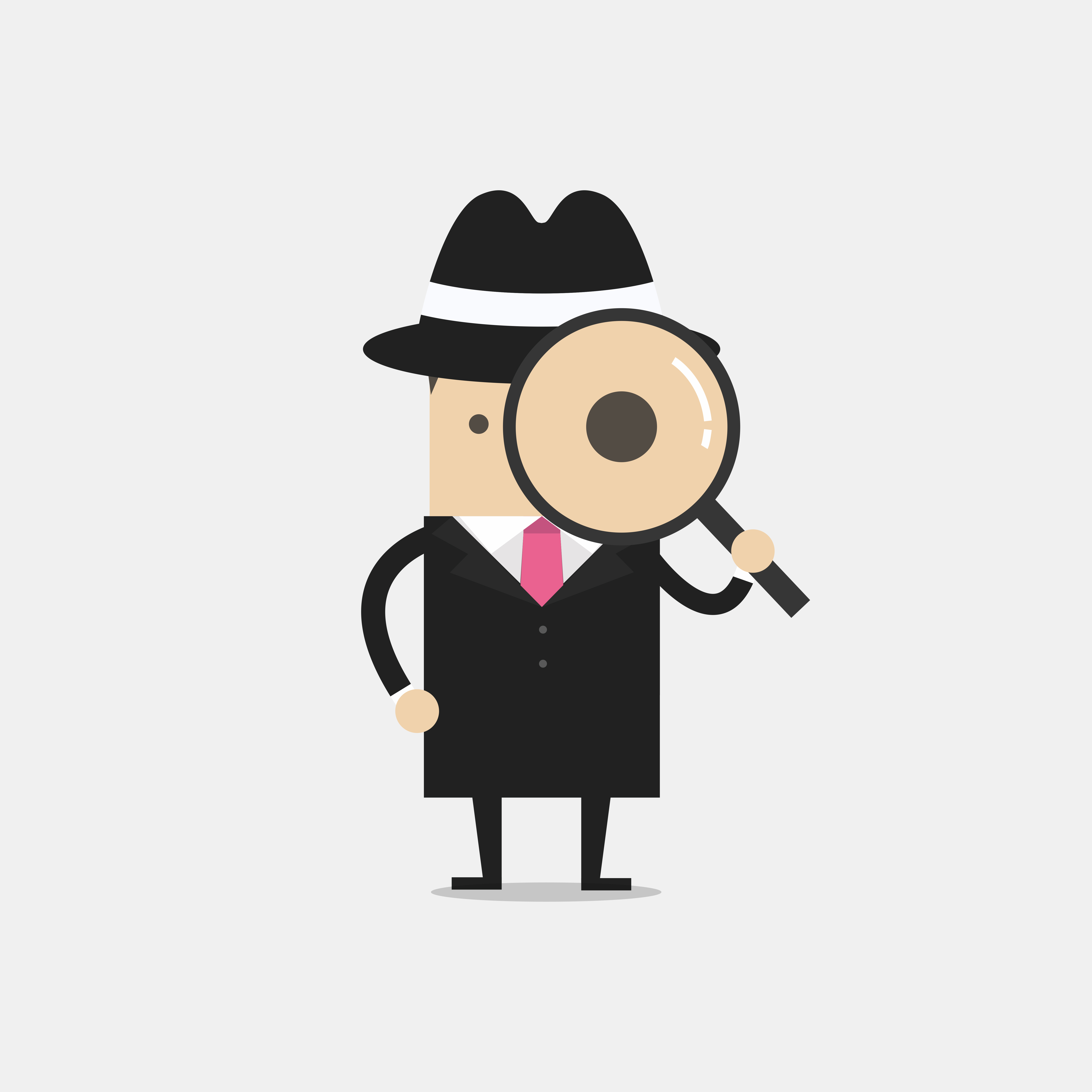 Image of a detective with a magnifying glass.