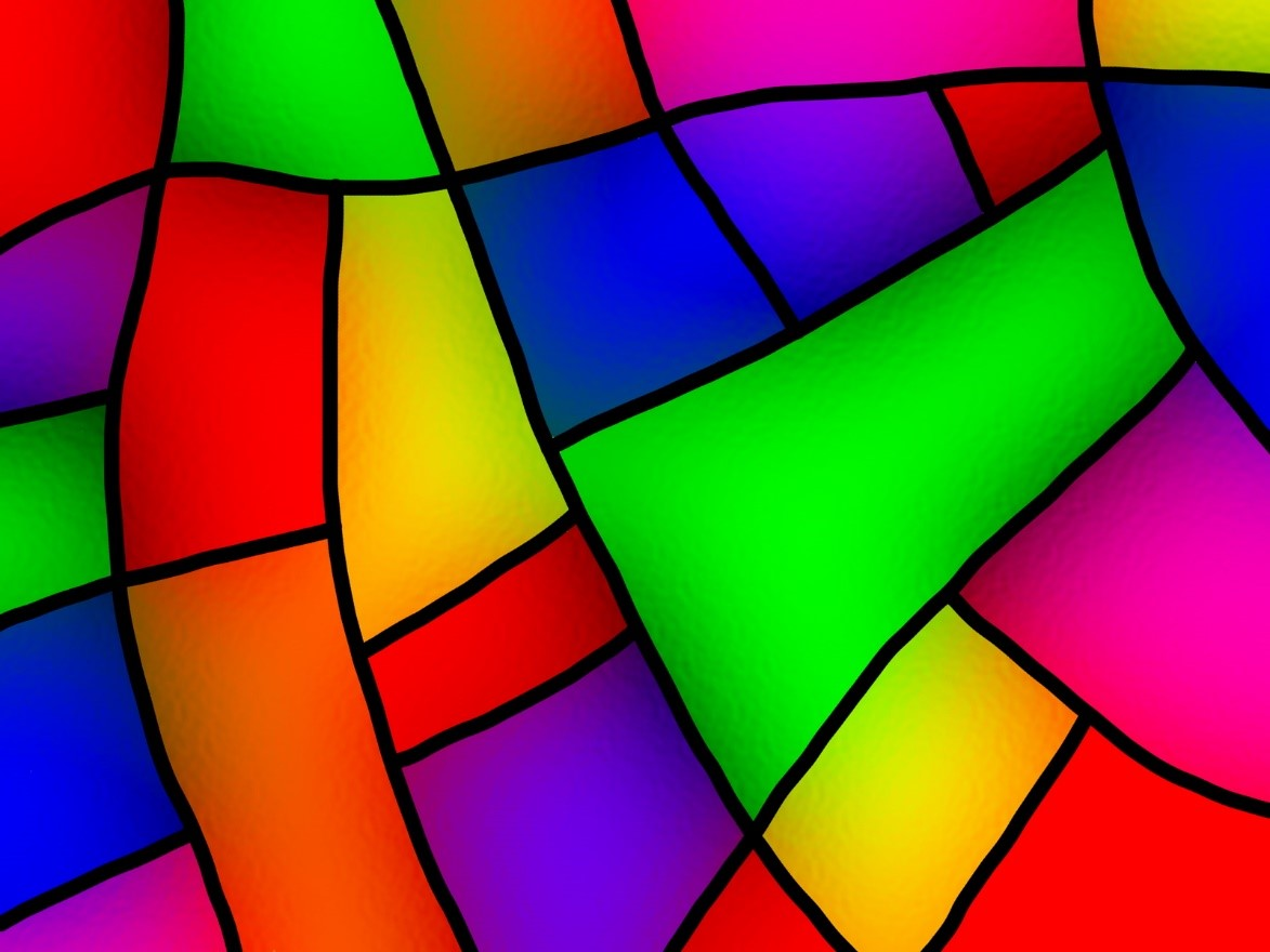 Image of a stained glass craft