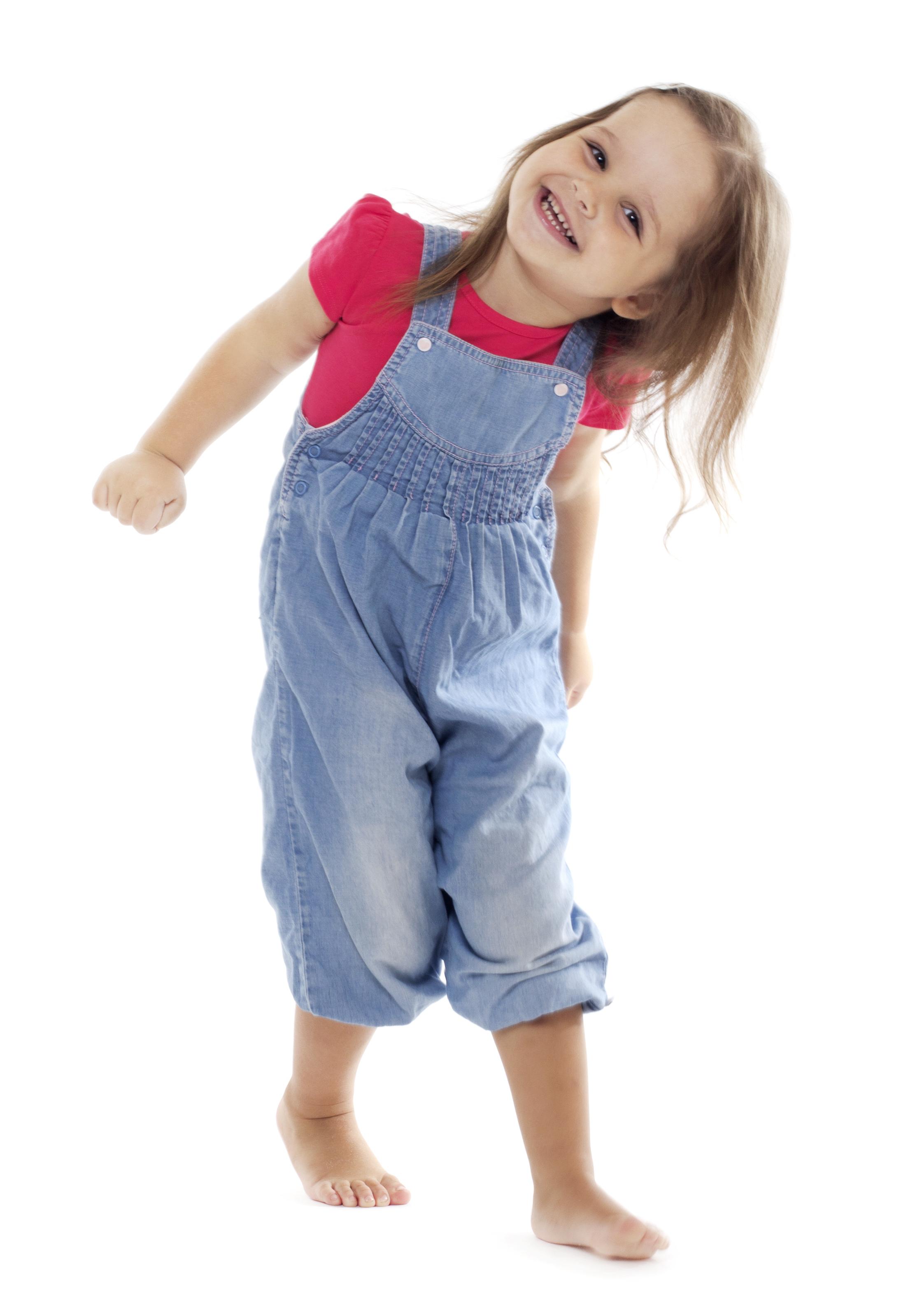 Toddler dancing.