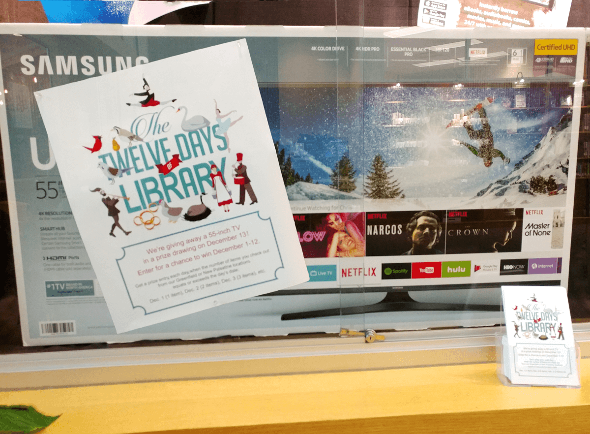 12 Days of Library 55-Inch TV Giveaway