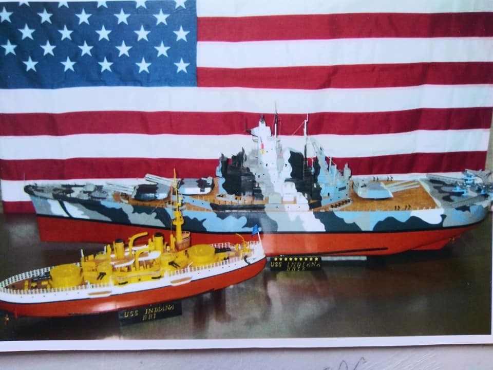 Warship Model Display at the Library in Greenfield