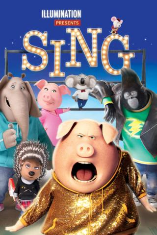 Sing's movie poster.
