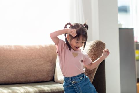 Little girl dancing.